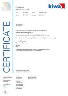 Certificate | RWB Almelo